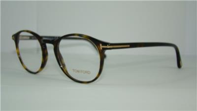 4de6a48a60 TOM FORD TF 5294 052 Dark Havana Round Glasses Frames Eyeglasses Size 48