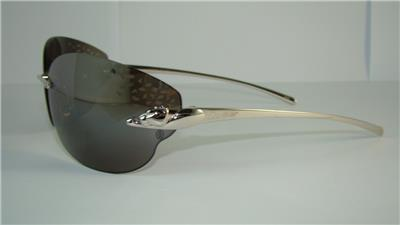 67db04e049ae CARTIER PANTHERE T 8200848 SMOOTH PLATINUM FINISH SUNGLASSES Grey Mirrored  Lens