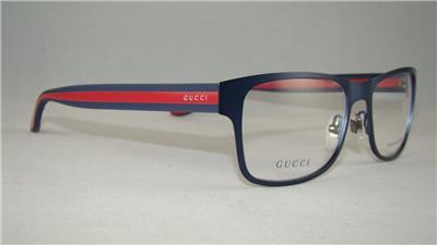 40cc77481333e GUCCI GG 2232 CUF Matte Blue Red Frames Glasses Unisex Eyeglasses Size 54