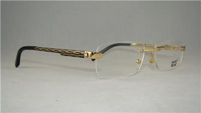 32a2672bfb MONT BLANC MB 472 028 Gold Rimless Eyeglasses Glasses Frames Size 57