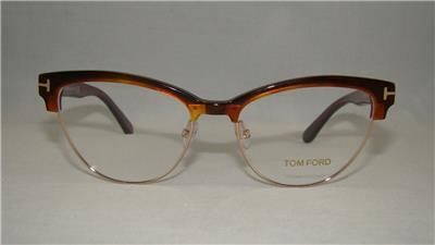 2717e955b117 TOM FORD TF 5365 052 Brown   Gold Glasses Frames Eyeglasses Size 54 ...