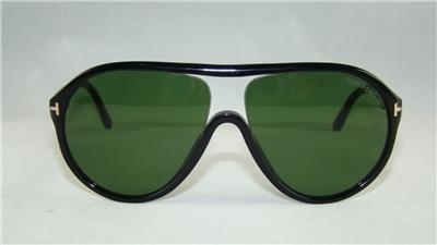 d4d6a0d5645 Tom Ford Edison TF 443 FT0443 01N BLACK Aviator Sunglasses Green ...