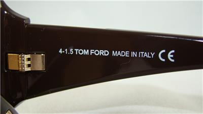 Tom Ford Harley TF 433 FT0433 48J Brown Frame Lunettes de soleil Roviex Lens Taille 60