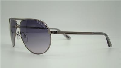 93246f8d0b JAMES BOND SKYFALL Tom Ford Marko TF 144 08B Gunmetal Black Aviator  Sunglasses