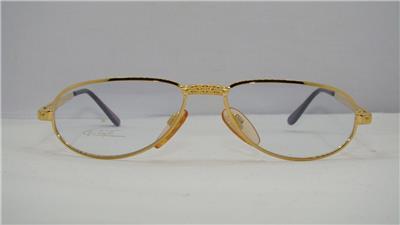 ba8d2dc94bb RARE VINTAGE ETTORE BUGATTI EB 501 301 Gold Reading Glasses ...