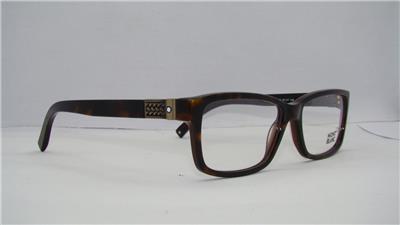 3bfbb70b0b MONT BLANC MB 443 056 Dark Havana Tortoise Glasses Eyeglasses Frames Size 57