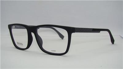 f343843173 Hugo Boss 0733 KD1 Matte Black Carbon + Org Case Frames Eyeglasses Size 54