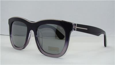 Tom Ford TF 414 D 03C Black Gradient Sunglasses Grey Lenses