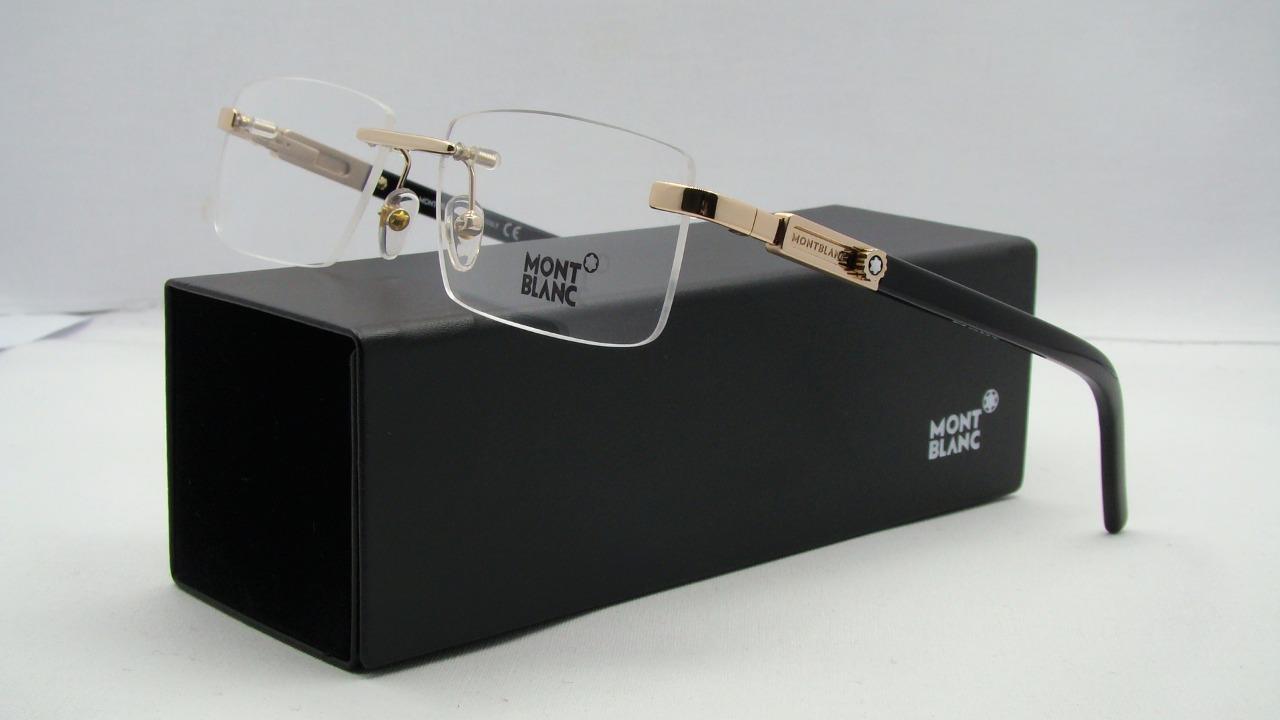 Mont Blanc Mb 398 028 Rose Gold Rimless Glasses Frames