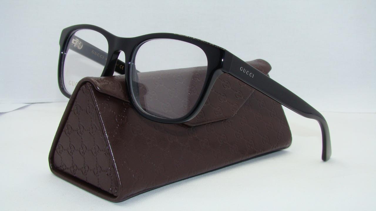633afa6de2 New Gucci GG0004O 001 0004O Black Brille Frames Glasses Eyeglasses ...