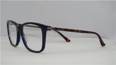 55fb5c9e32 Gucci GG0018O 007 0018O Blue-Havana Frames Glasses Eyeglasses Size ...