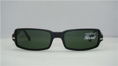 Persol 2687S CC//31 Matte Black Reading Sunglasses Sonnenbrille Green Lens 52mm