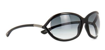 Tom Ford Jennifer TF0008 01B FT8 Shiny Black Sunglasses Gradient Smoke Lens 61mm