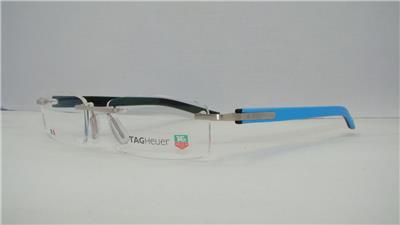 5c393524b4a3 Tag Heuer TRENDS 8108 009 Azur Blue  Black Rimless Brille Eyeglasses Frames  54mm