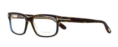 b62538eef9b TOM FORD TF 5313 055 Havana   Blue Brille Glasses Frames Eyeglasses Size 55