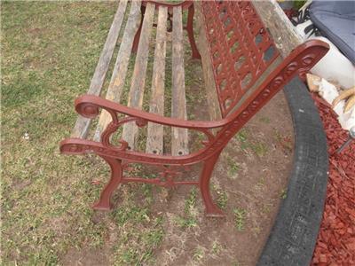 Nice WROUGHT Iron amp TIMBER Vintage GARDEN Bench SEAT Adelaide