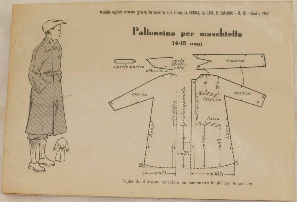 Maschietto Sewing Paltoncino Cucito Cartamodello Per Modello L5Rj3Aq4