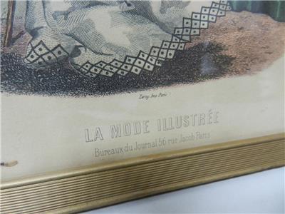 La mode illustree bureaux du journal rue jacob paris framed