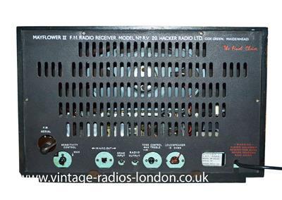 1960 S Hacker Mayflower Ii Rv20 Fm Valve Radio 12 11