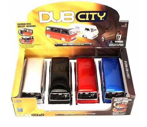 Jada Dub City 1965 Ford Racing Econoline 124 G Scale diecast van #S
