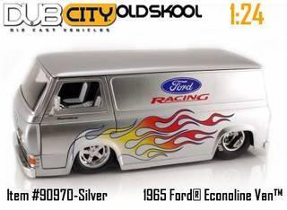 Jada Dub City 1965 Ford Racing Econoline 1 24 G Scale Diecast Van S