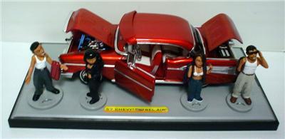 Homie Rollerz Jada diecast 1957 Chevy Bel Air 124 G scale G *see listing