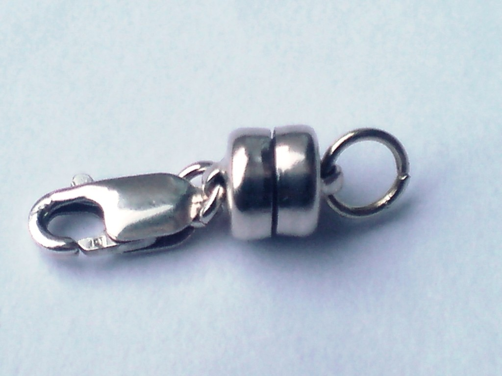 925 Sterling Silver Magnetic Necklace Clasp Converter