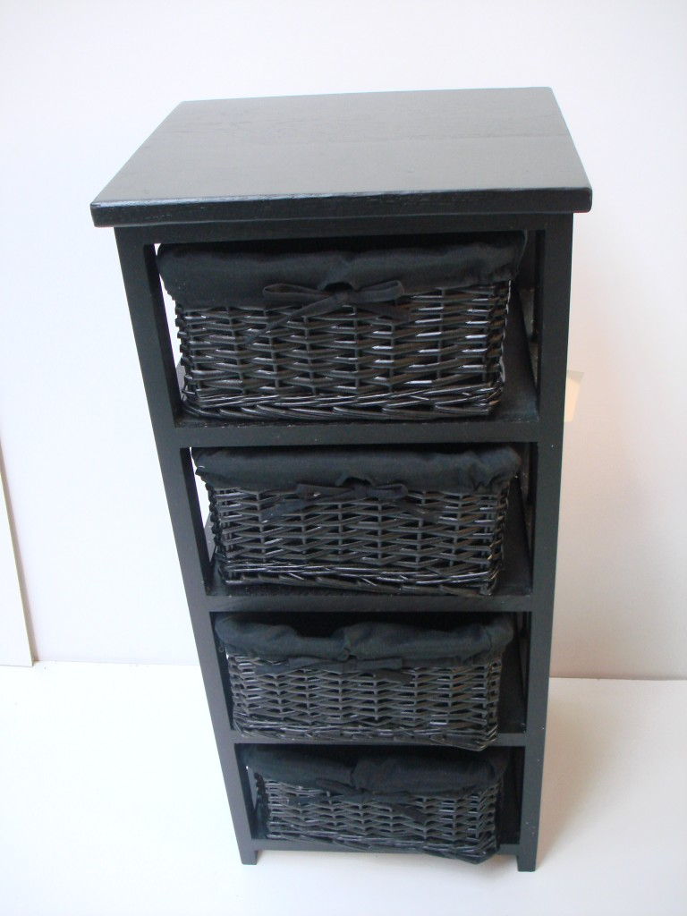 bathroom storage cabinet with baskets 4 black basket draw bathroom storage unit floor cabinet ebay 22385