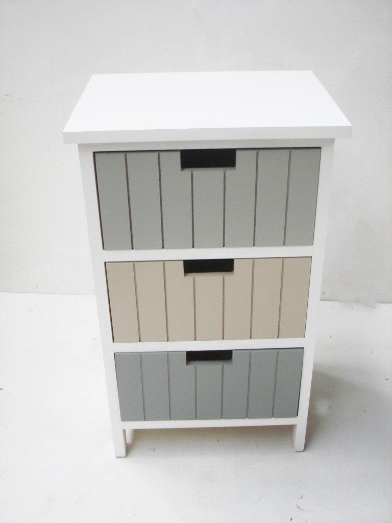4 or 3 draw white bathroom bedroom bedside side table - Small storage table for bathroom ...