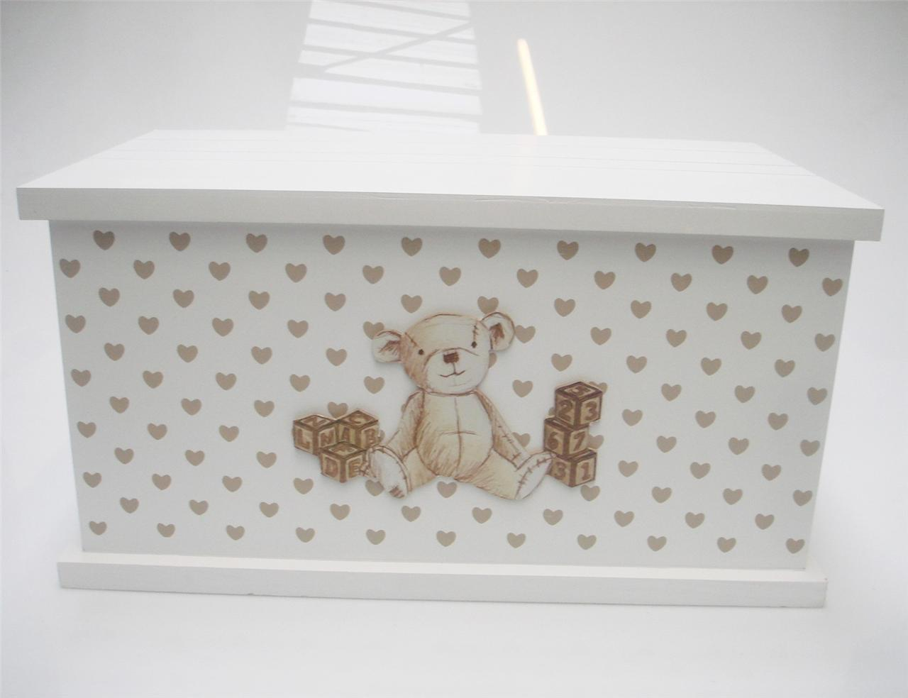 Baby Bedroom In A Box Special: TEDDY BEAR WOODEN HOME BABY NURSERY KIDS BEDROOM TOY BOX