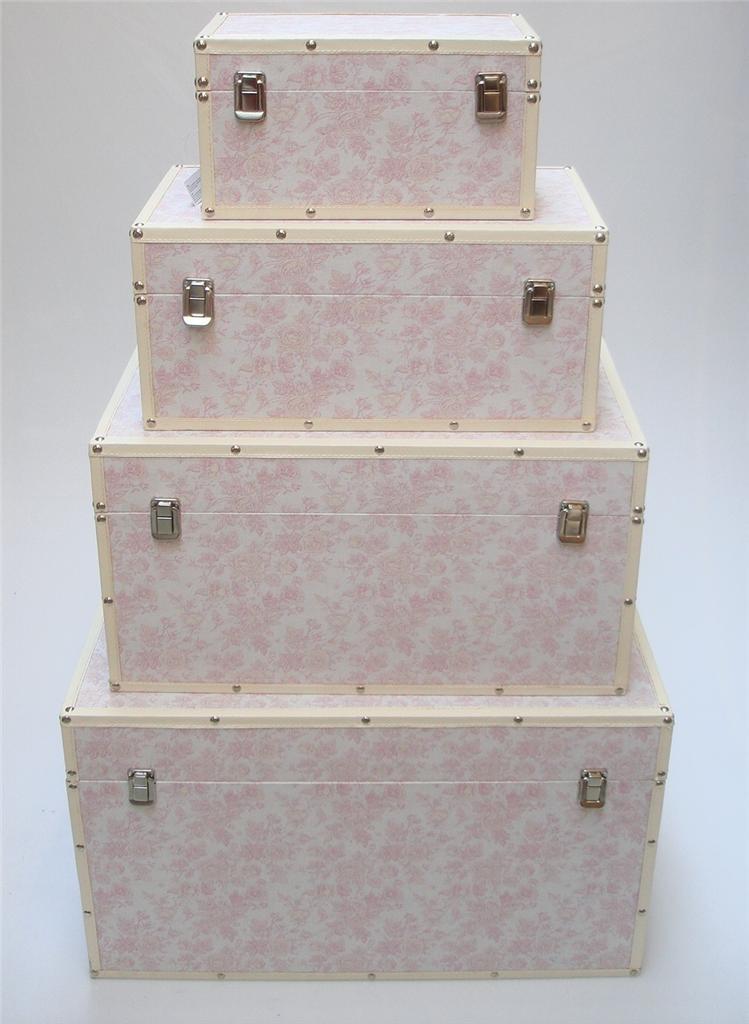 Wood Effect Kids Playroom Bedroom Storage Chest Trunk: Rose Flower Design Baby Nursery Kids Bedroom Wooden