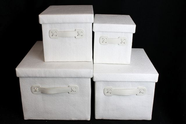 Baby Bedroom In A Box Special: White Handle Woven Storage Boxes Baby Nursery Kids