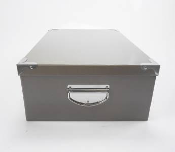 Big Metal Handle Grey Strong Cardboard Craft A4 Paper Home