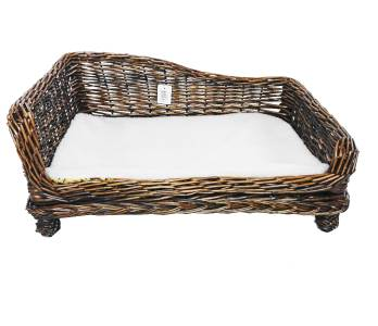 large big huge xl wicker dogs puppies pet bed basket seat couch padded cushion ebay