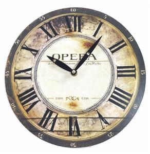 28cm Antique Effect French Word Round Dining Room Hallway Wall Clock 4  Designs Part 45