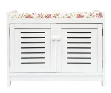 Benches/Stools Assembled White Kid Bedroom Hallway Flower Padded Seat Stool Bench Shoe Cabinet Antiques