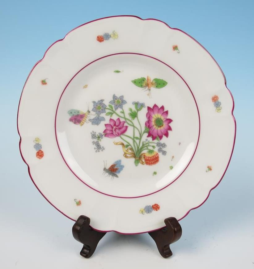 Haviland Limoges MMA Meissen Flowers Insects Porcelain 6 25
