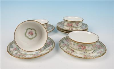 set of 4 haviland limoges ramekins & saucers gda