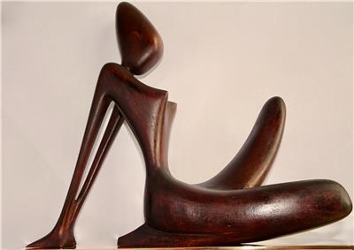 Woman Sculpture: Hagenauer (attributed