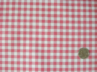 New Pink Gingham Check Retro Oilcloth Fabric 12yd Roll Ebay