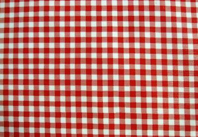 Red Gingham Check Country Western Italian Cafe Picnic