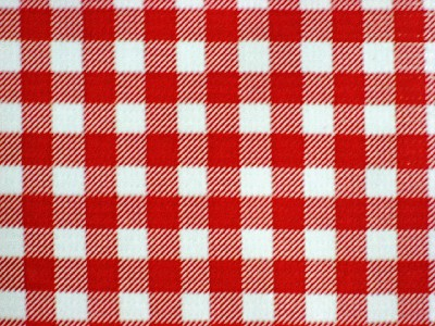 Red Gingham Check Country West Picnic Italy Cafe Oilcloth