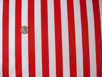 Red White Cabana Stripe Flag Clown Candy Cane Oilcloth