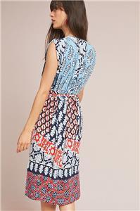 206694ca12c4 Nwt Anthropologie Patchwork Midi Dress Sz XS P Size X-Small Petite ...