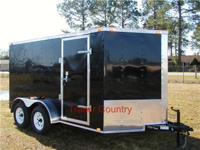 NEW 6x12 6 x 12 V Nose Enclosed Cargo Trailer w/Ramp