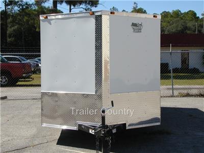NEW 7x16 7 x 16 V Nose Enclosed Cargo Trailer w/Ramp