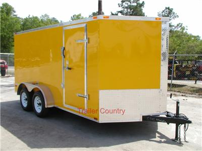 NEW 7x14 7 x 14 V Nose Enclosed Cargo Trailer w/Ramp