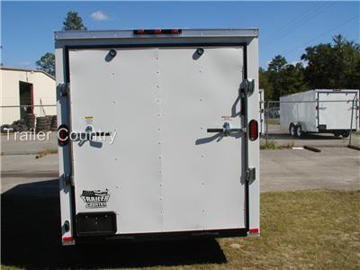 NEW 6x12 6 x 12 V Nose Enclosed Cargo Trailer w/ RAMP