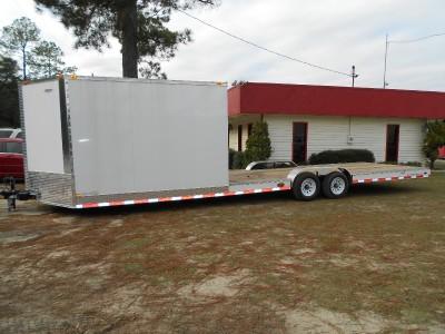 HYBRID ENCLOSED CARGO + OPEN UTILITY ATV, CAR HAULER TRAILER