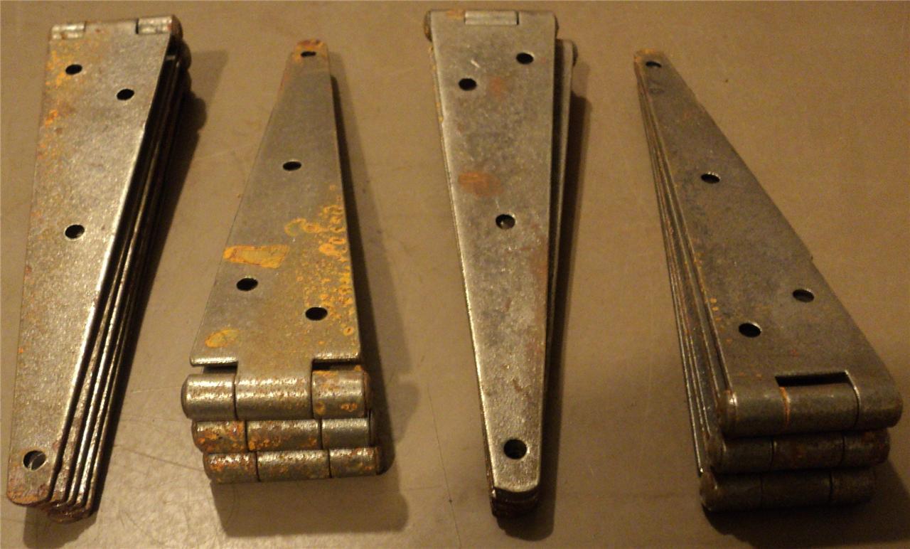 ANTIQUE VINTAGE LOT OF 12 LARGE BARN DOOR HINGES | eBay